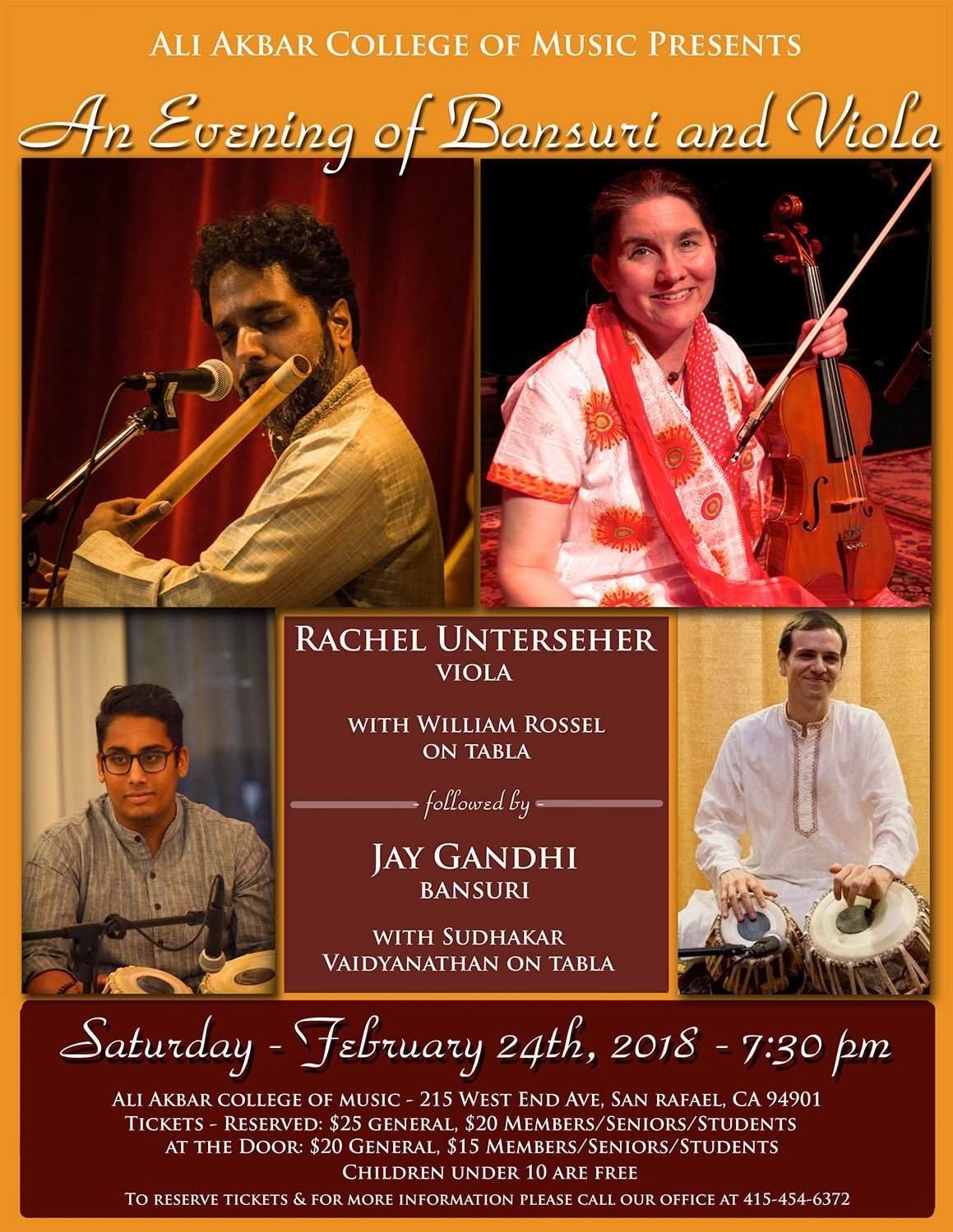 Concert with Nilan Chaudhuri January 13, 2018