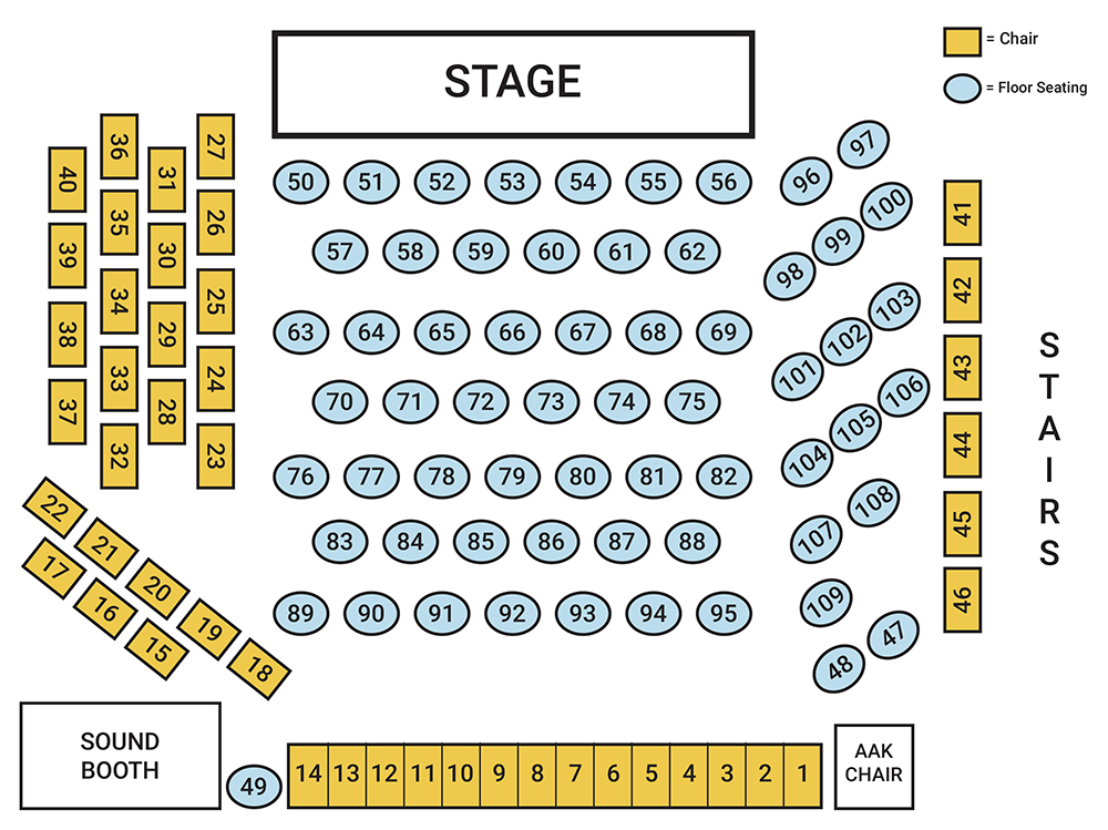 AACM Seating Chart